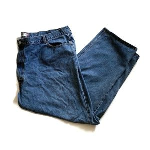 Levis 550 Straight Leg Zip Fly Blue Denim Jeans
